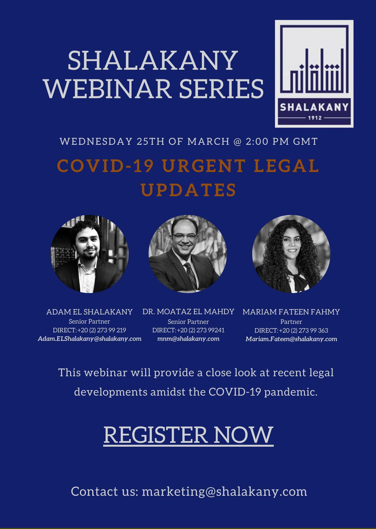 COVID-19 Urgent Legal Updates
