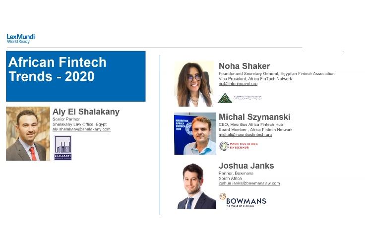 Lex Mundi's 2020 Middle East and Africa Webinar Forum Part 2: African Fintech Trends